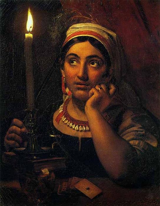 Ворожея со свечой. Картина Ореста Кипренского.