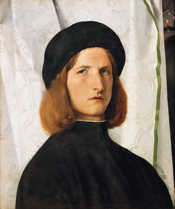 Портрет юноши, художник Лоренцо Лотто.