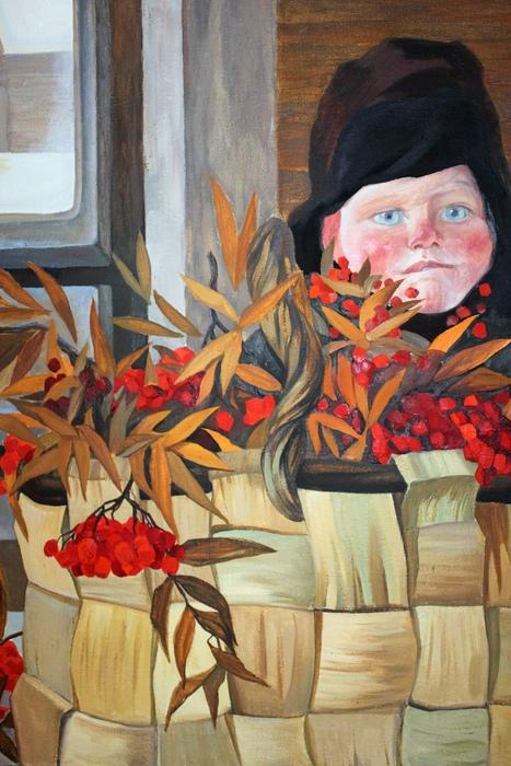 Очаровывала Тутунджан и северная природа. Цветы и ягоды — повторяющийся мотив на её картинах.