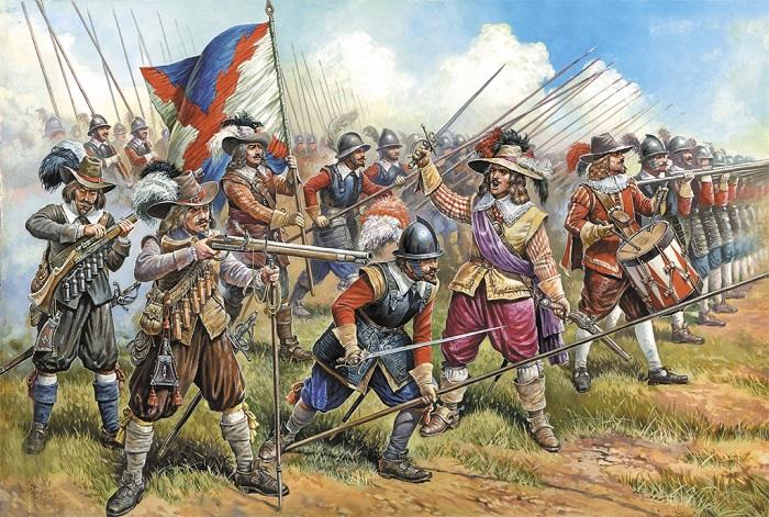 Обычные мушкетёры постоянно воевали тут и там.