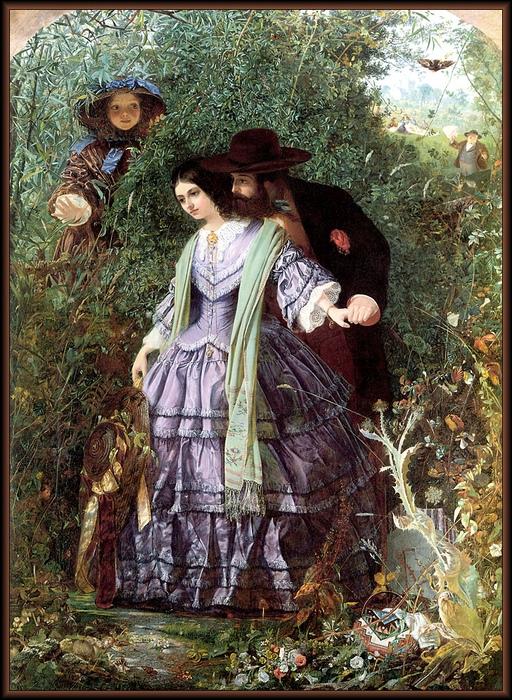 Разговор с мужчиной наедине порочил имя девушки. Картина Уильяма Генри Фиска.