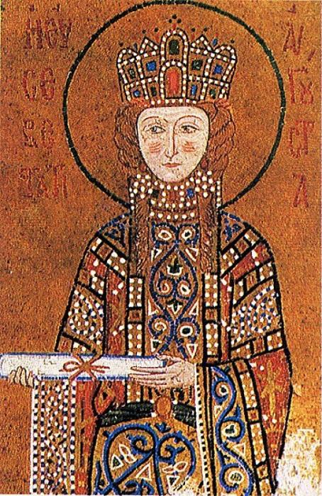 Поскольку убийством близких в Византии было никого не удивить, то церковь тех времён на них не слишком сосредотачивалась, а предпочла думать о заслугах императрицы перед верой. За возвращение иконопочитания Ирину признали святой.