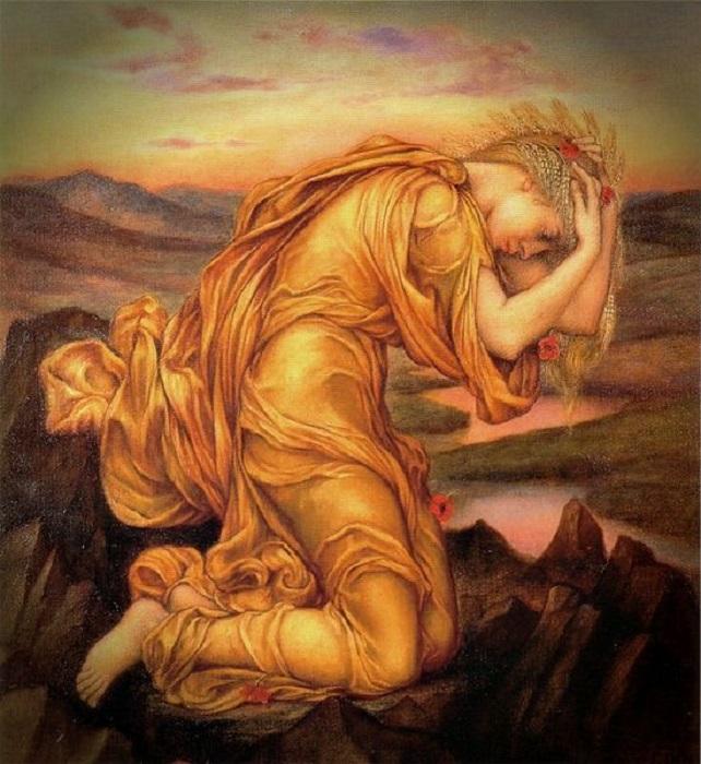 В Древней Греции почитали немало богинь, и часть из них покровительствовала женщинам. Изображение Деметры, богини плодородия, кисти Эвелин де Морган.
