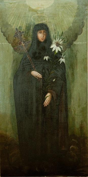 Картина Нафонты Калашниковой, изображающая Евфросинью Полоцкую.