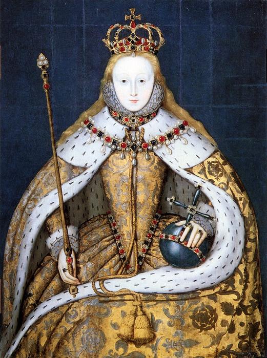 Коронационный портрет Елизаветы Тюдор.