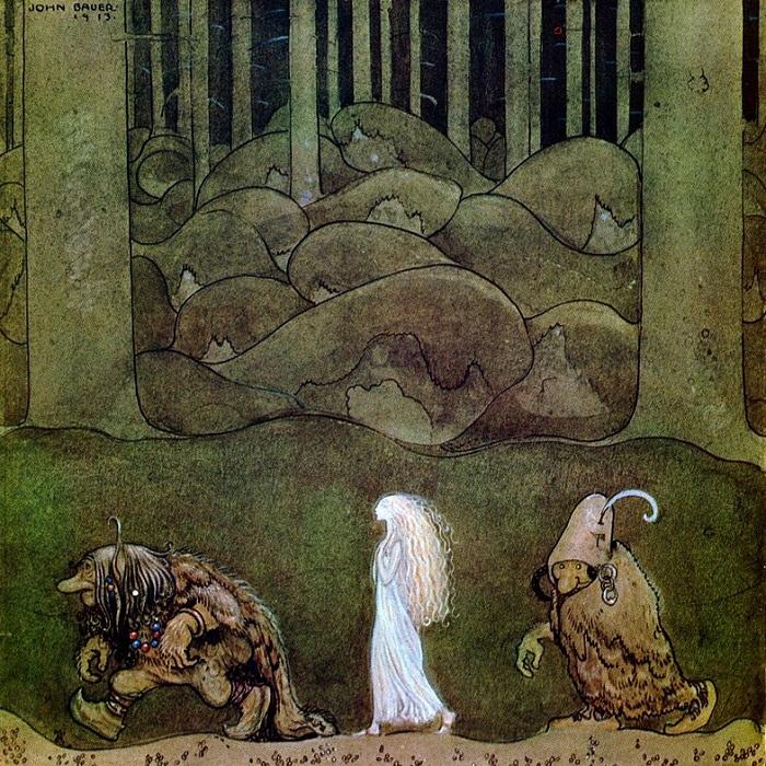 Йон Бауэр. Иллюстрация к сказке «Подменыш».