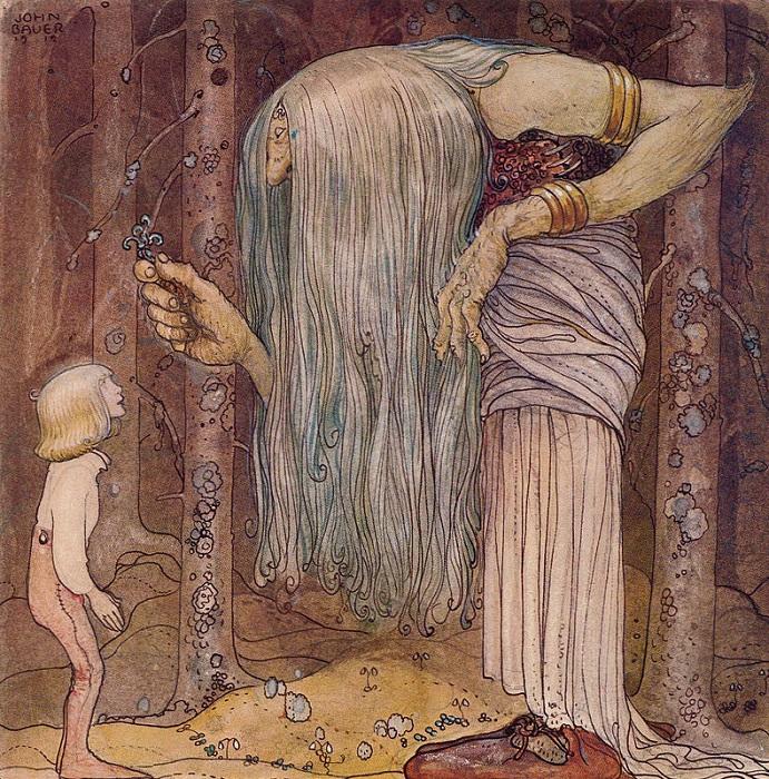 Йон Бауэр. Иллюстрация к сказке «Мальчик, который никогда не боялся».