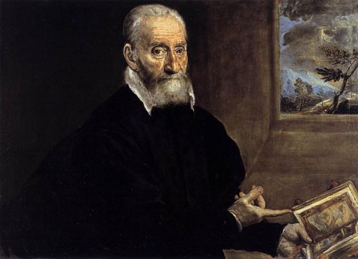 Портрет Джулио Кловио работы Эль Греко, сделанный в Италии.