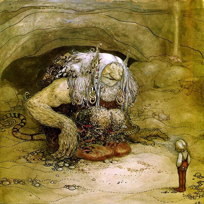иллюстрации к норвежским сказкам торт