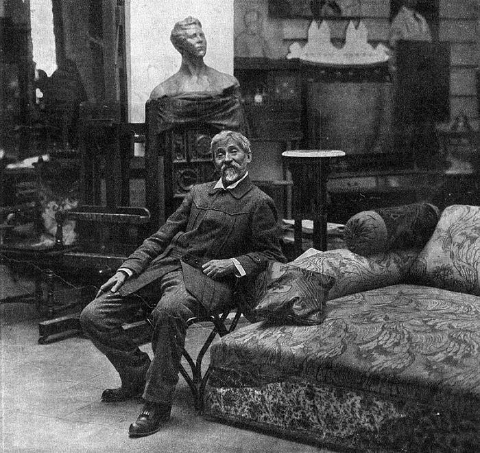 Самый знаменитый русский Финляндии - Илья Репин. Фотография, сделанная в его финском доме.