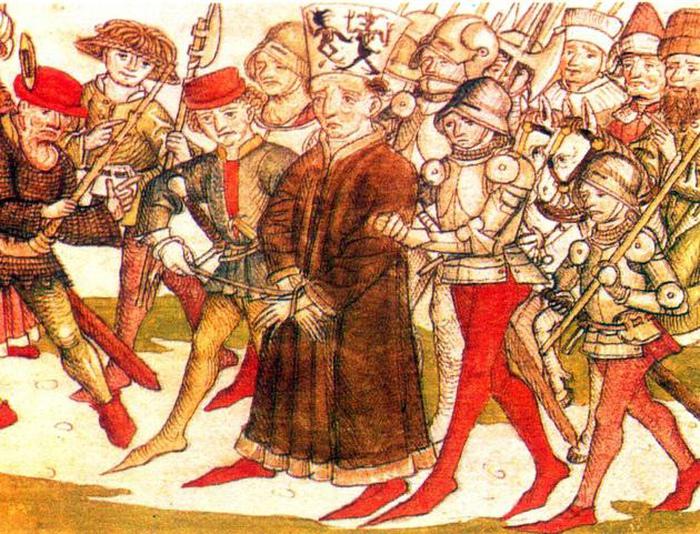 Миниатюра, изображающая казнь чеха Яна Гуса.