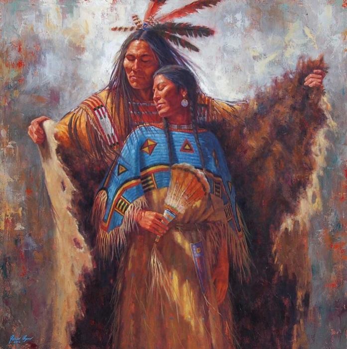 Одеяло у коренных народов Америки использовалось не только для постели.