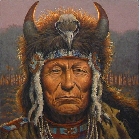 Практически все индейцы знали наркотические вещества. Чаще всего их употребляли шаманы и жрецы. Картина Чарльза Фризелла.