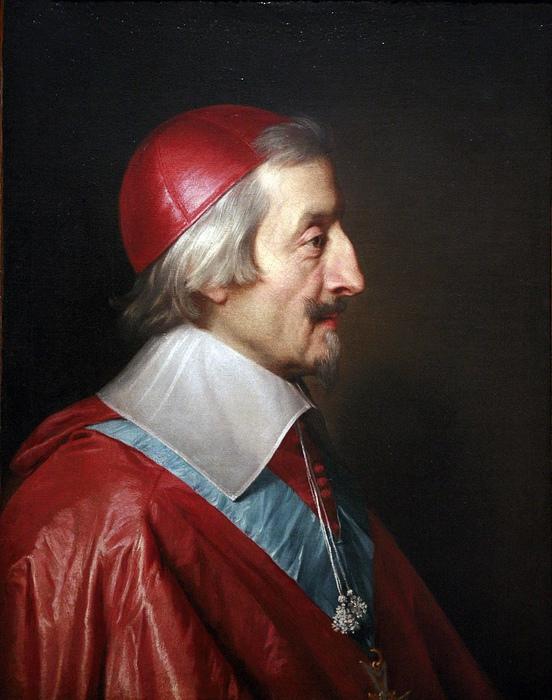 Фрагмент портрета кардинала Ришельё.