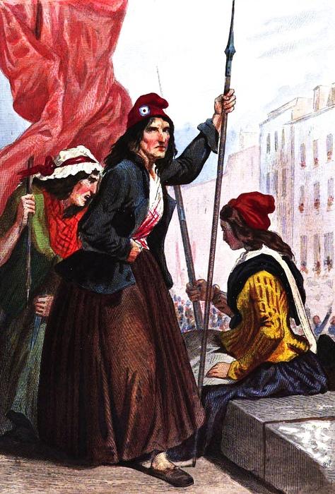 Французская революция ненадолго раскрепостила женщин, например, дала право на развод.