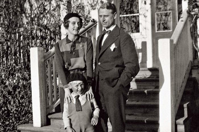 Семейство Линдгренов до рождения дочери Карин.