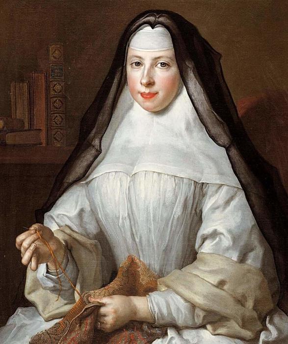 Не все монахини были так же благочестивых, как эта. Картина Николя Ларжельера.