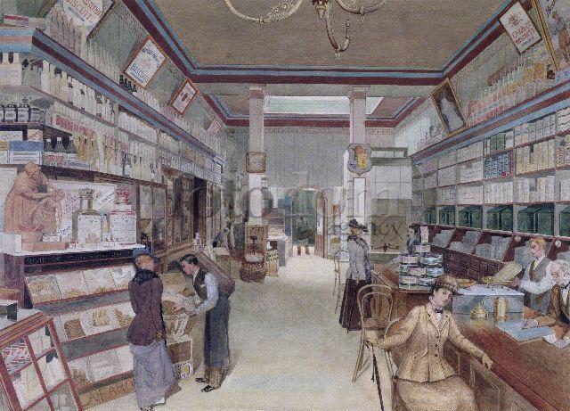 В старину магазины были устроены так, что от покупателя требовалось поговорить с продавцом, а от продавца - много говорить с покупателем.
