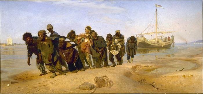 «Бурлаки на Волге» - самая знаменитая картина Репина в России.