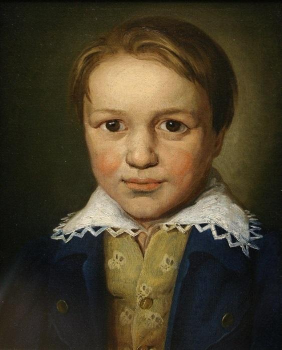 Портрет тринадцатилетнего Людвига ван Бетховена.