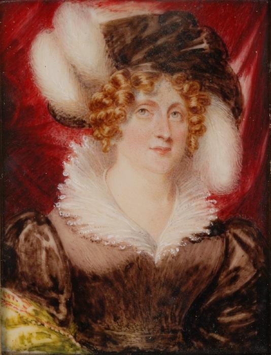 Портрет Каролины неизвестного авторства.