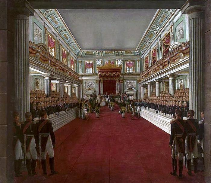 Коронация Николая I в Варшаве. Картина Антония Бродовского.