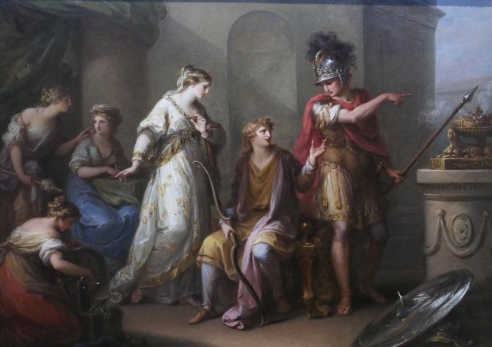 Гектор укоряет Париса. Художница Ангелика Кауффман.