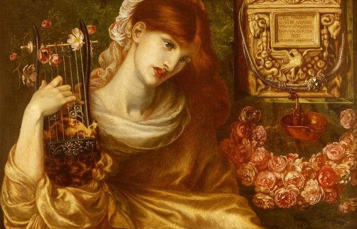 Как играть в кудрявые тимпаны и петь под собственную волынку: музыкальные инструменты в поэзии Серебряного века. Картина Данте Габриэля Россетти.