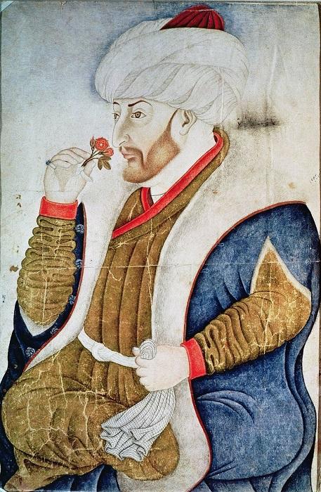 Портрет Мехмеда Завоевателя, противника Влада Цепеша.