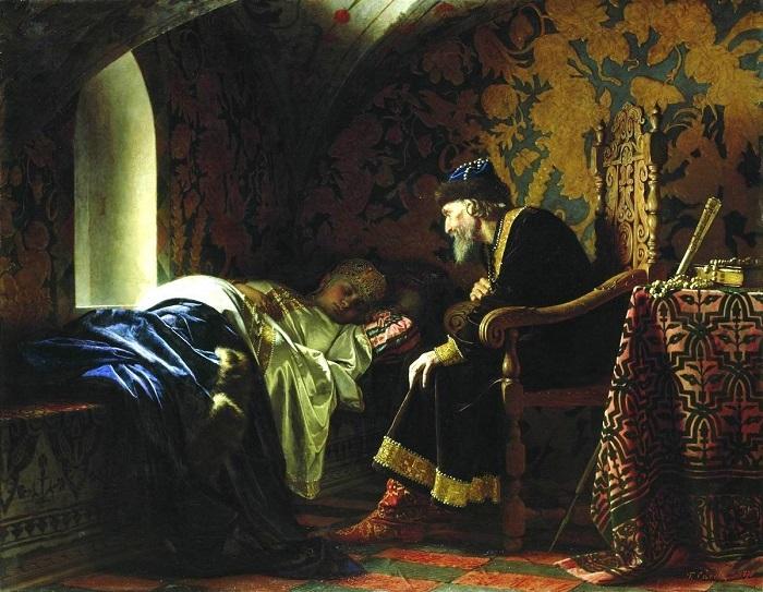Иван Грозный был хроническим вдовцом. Картина Клавдия Лебедева.