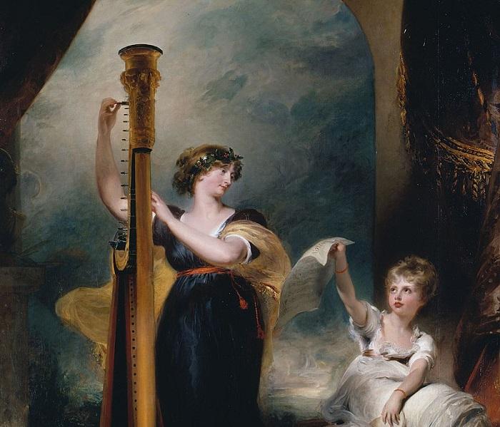 Принцесса Каролина с дочерью Шарлоттой. Художник Томас Лоуренс.