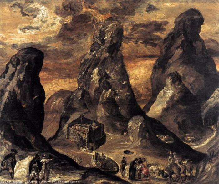 Вид на гору Синай. Картина Эль Греко.