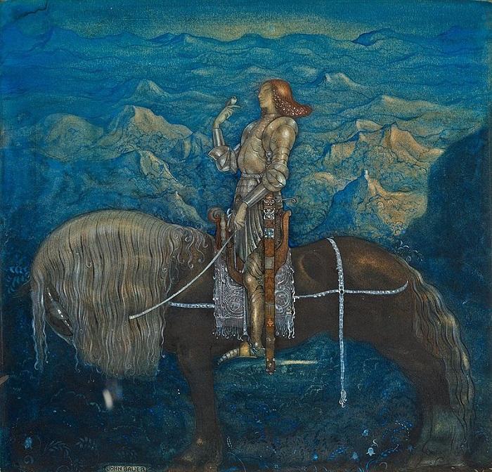 Йон Бауэр. Иллюстрация к сказке «Странствующий рыцарь».