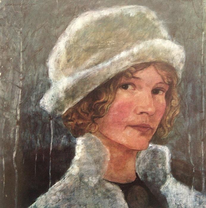 Автопортрет Эстер Эльквист.