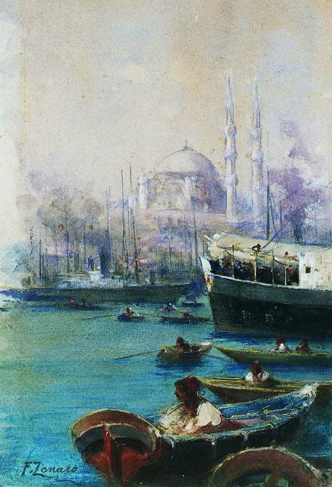 Вид Стамбула с Босфора.