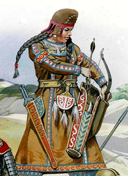 В старые времена женщины Кавказа и прикавказских степей умели сражаться.