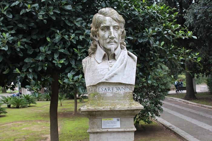 Памятник Джулио Чезаре Ванини.