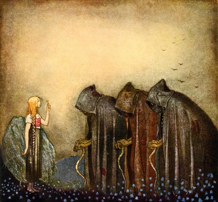 Йон Бауэр. Иллюстрация к сказке «Золотые ключи».