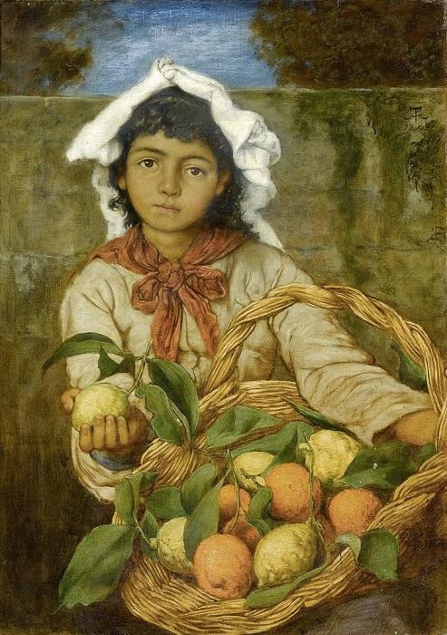 Продавщица лимонов. Картина Ханса Томы.