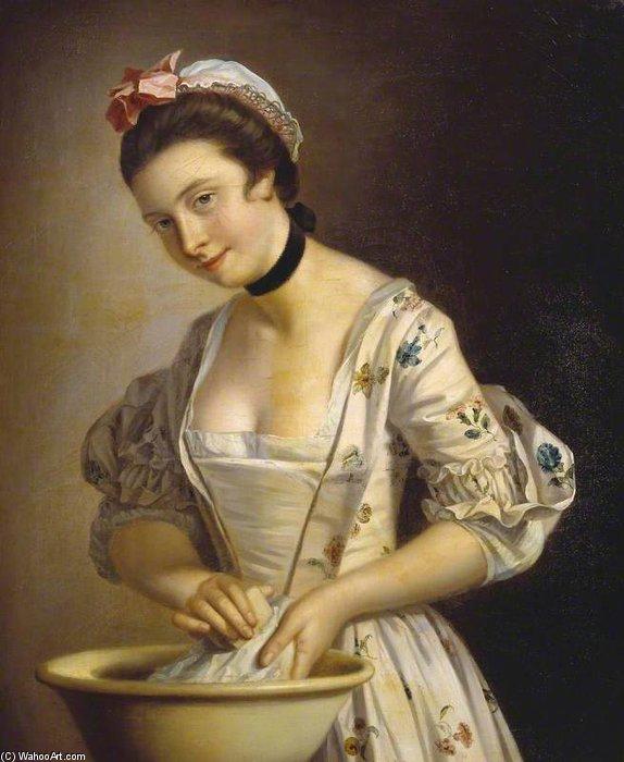 Большую часть времени прислуга в доме не подавала чай или пальто, а чистила, застирывала и замывала. Поддержание чистоты отнимало много сил. Картина Генри Морланда.