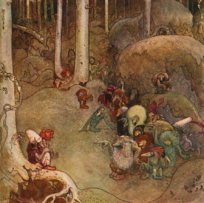 Когда сборник сказок пытались переиздать без иллюстраций Бауэра, люди не стали его покупать.