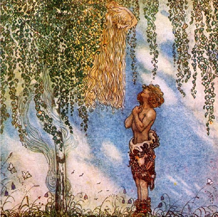 Одна из сказочных иллюстраций легендарного шведского художника.