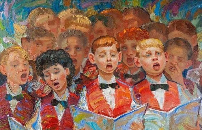 Гимны стран мира: удивительно короткие, ужасно длинные, очень милые и просто странные. Картина Игоря Семенихина.