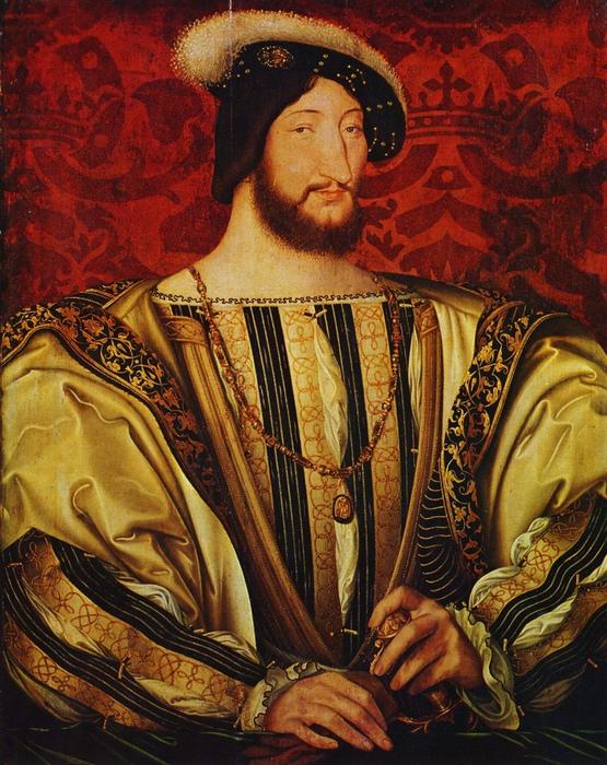Франциск I любил смотреть львиные бои. Портрет короля кисти Жана Клуэ.