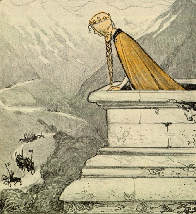 Йон Бауэр. Иллюстрация к сказке «Тот, кто может ездить в любую погоду».