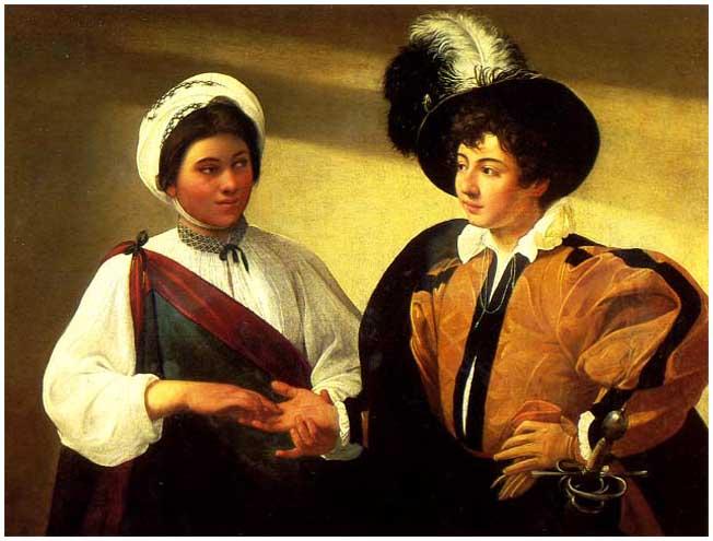 Во времена Караваджо цыганки одевались ещё так же, как в Византии.