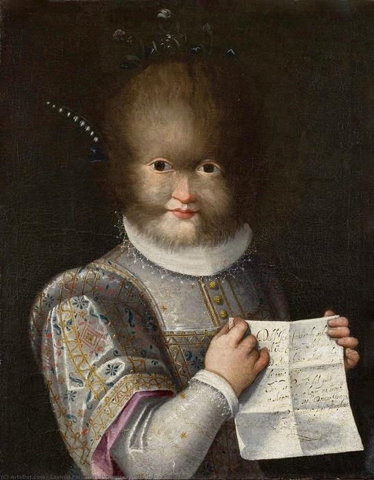 Портрет принцессы Тоньины. Художница Лавиния Фонтана.