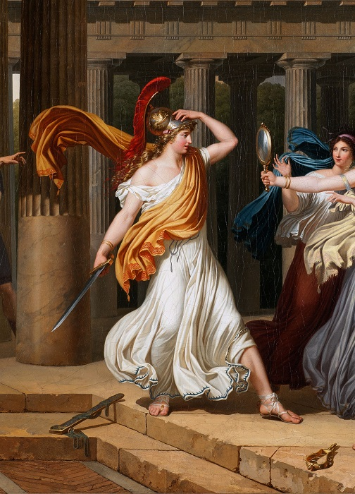 Фрагмент картины с Ахиллесом. Художник Луи Гофье.
