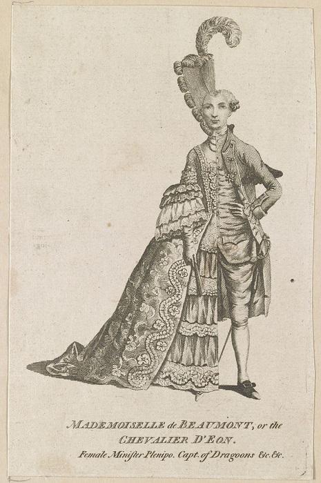 Мадмуазель де Бомон, кавалер д'Эон. Женщина-министр, капитан драгунов.