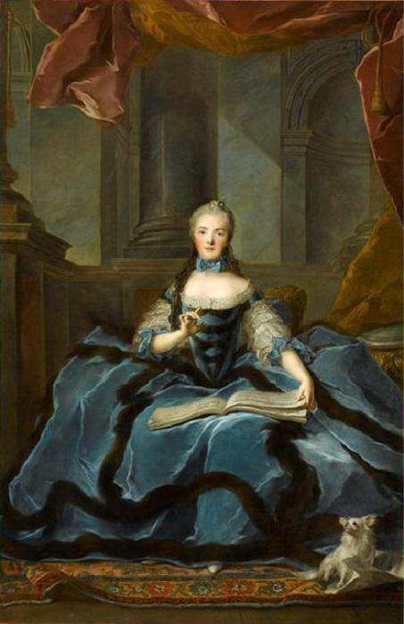 Принцесса Мари-Аделаида, одна из учениц Пьера Карона. Портрет Кисти Жана Марка Наттье.